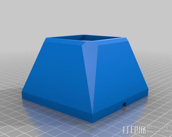 水晶装饰品底座 3D模型  图1