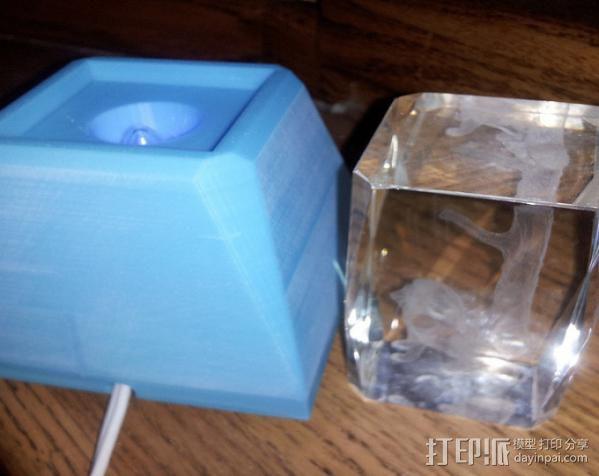 水晶装饰品底座 3D模型  图3