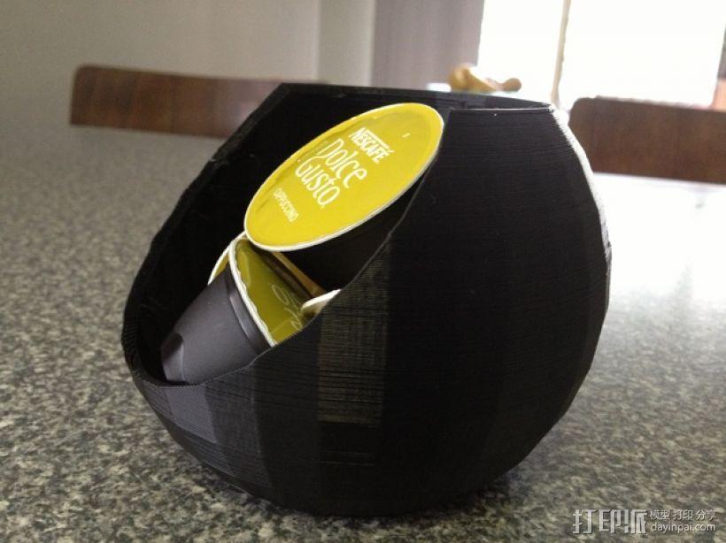 迷你胶囊咖啡盒 3D模型  图3