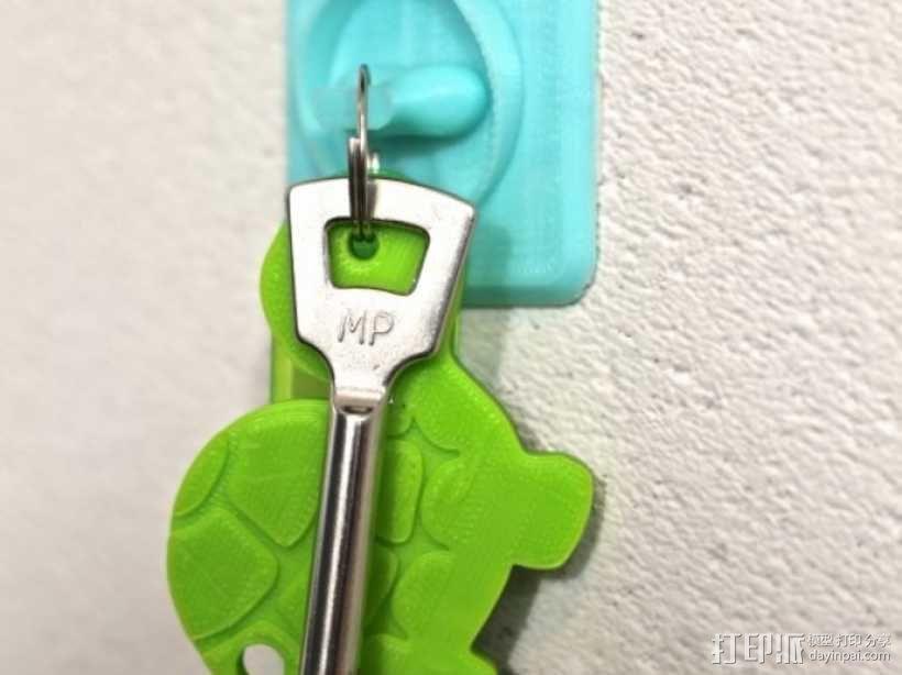 壁挂式钥匙架 3D模型  图2