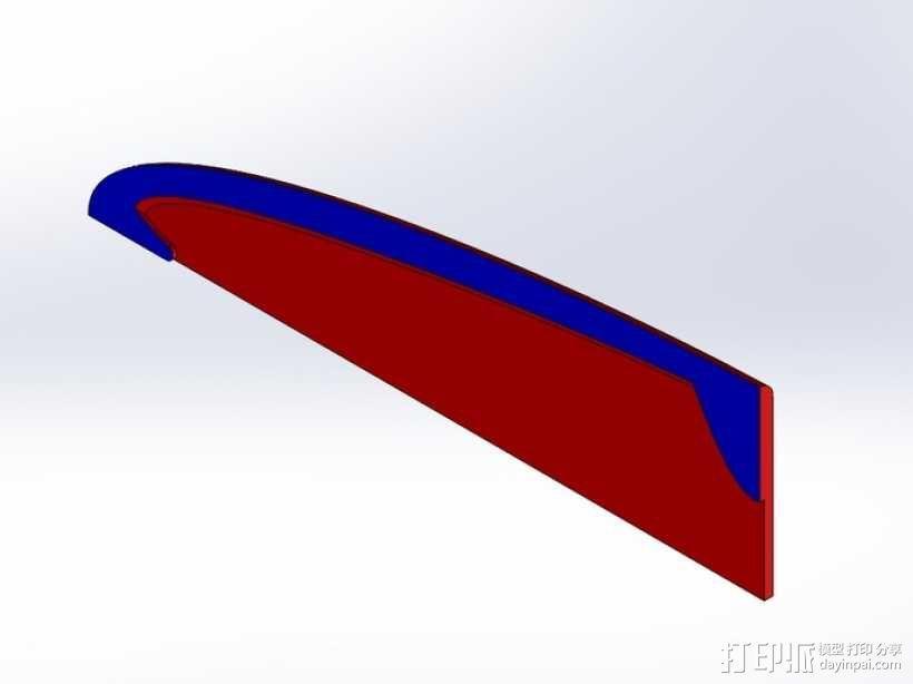 厨用刀具保护套 3D模型  图3