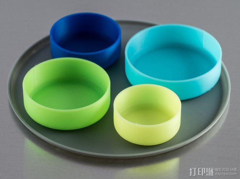 定制化圆形托盘 3D模型  图1