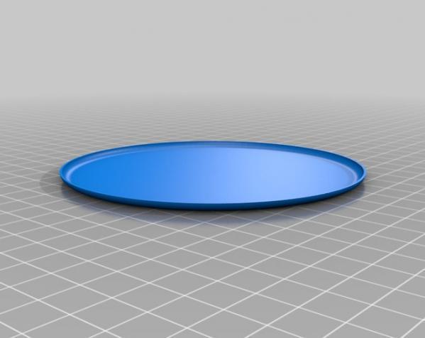 定制化圆形托盘 3D模型  图4