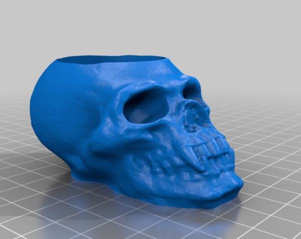 骷髅头形酒杯 3D模型  图2