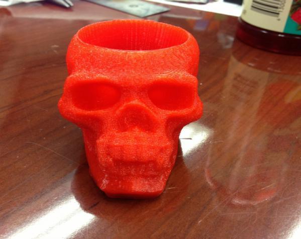 骷髅头形酒杯 3D模型  图3