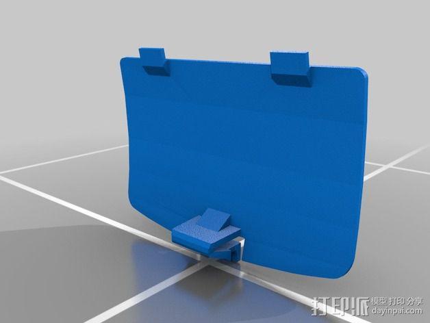 游戏机电池盖 3D模型  图4
