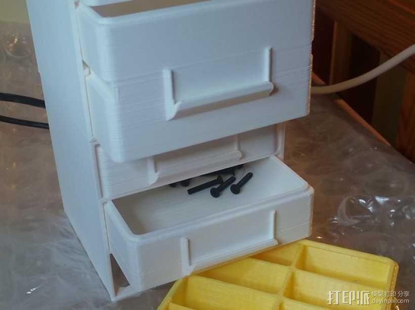 迷你抽屉盒 3D模型  图2