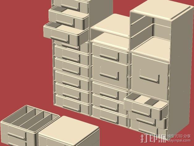迷你抽屉盒 3D模型  图16
