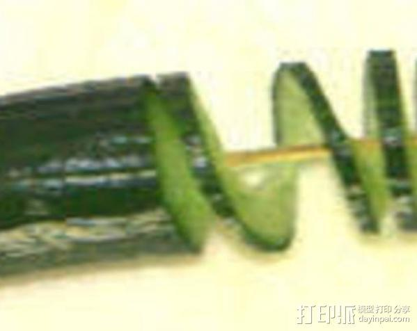 厨用螺旋铣刀 3D模型  图1