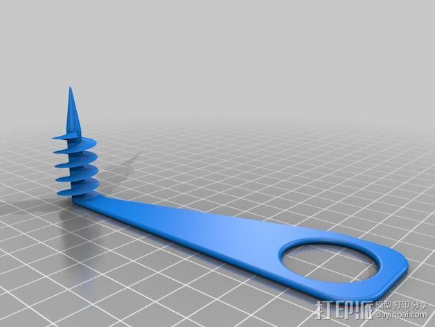 厨用螺旋铣刀 3D模型  图4