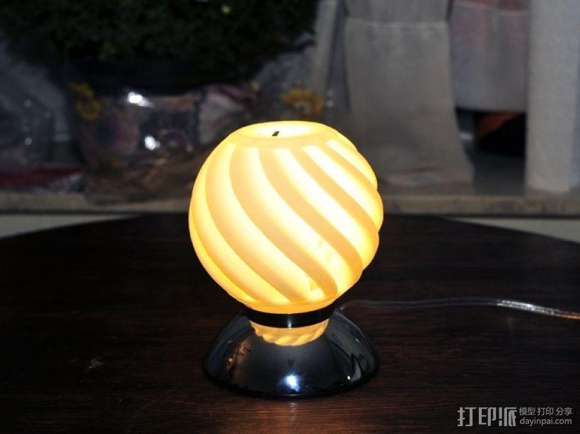 迷你圆形灯罩 3D模型  图2