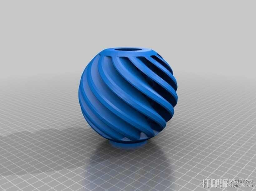 迷你圆形灯罩 3D模型  图3