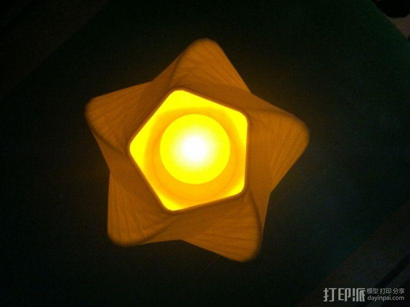 五边形灯罩/花瓶 3D模型  图2