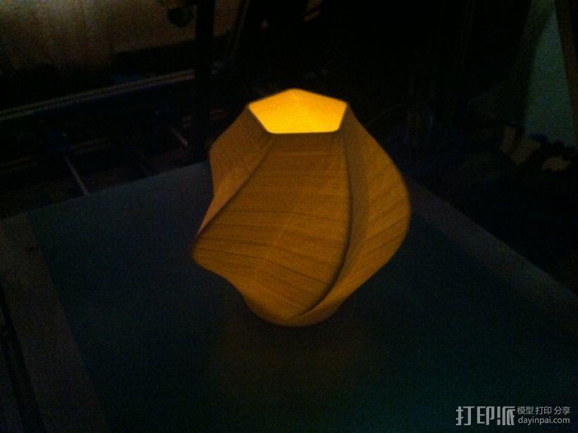 五边形灯罩/花瓶 3D模型  图3