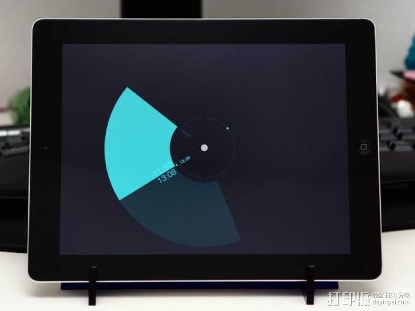 激光切割iPad架 3D模型  图2