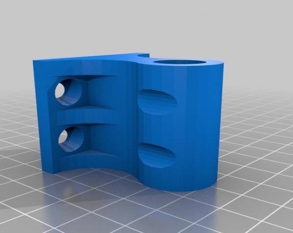 壁挂式灯具底座 3D模型  图1