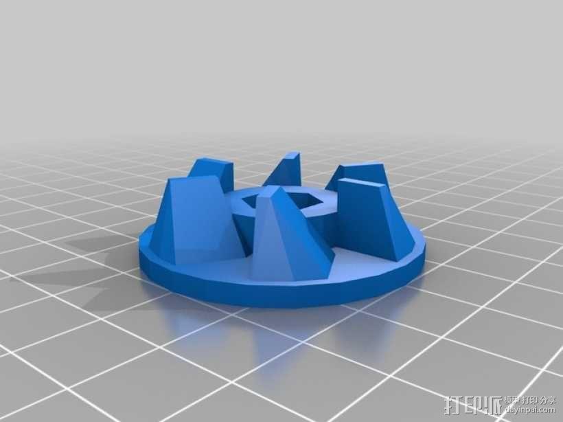 搅拌机离合器零部件 3D模型  图1
