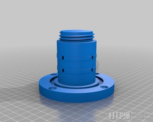 壁挂式曲柄 3D模型  图2