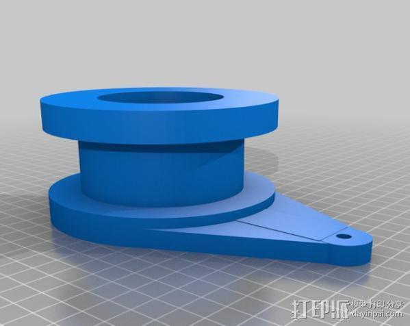 壁挂式曲柄 3D模型  图4