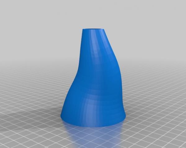 螺旋花瓶 3D模型  图1