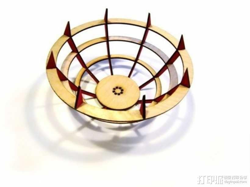激光切割水果盘 3D模型  图1