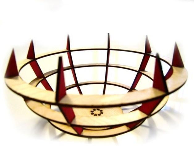 激光切割水果盘 3D模型  图2