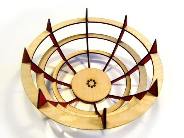 激光切割水果盘 3D模型  图4