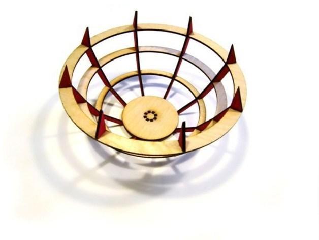 激光切割水果盘 3D模型  图5