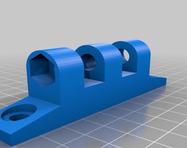 壁挂式显示器挂钩 3D模型  图2