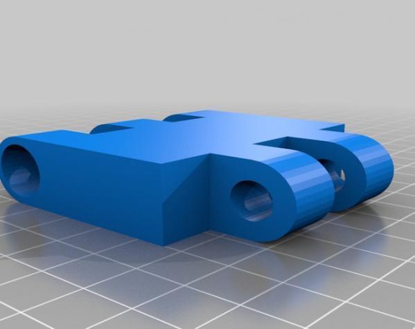 壁挂式显示器挂钩 3D模型  图4