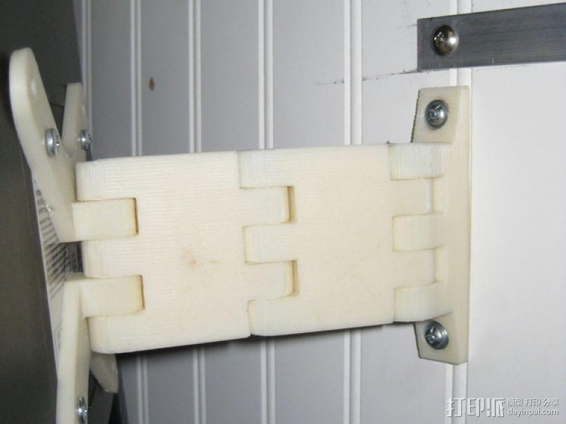 壁挂式显示器挂钩 3D模型  图3
