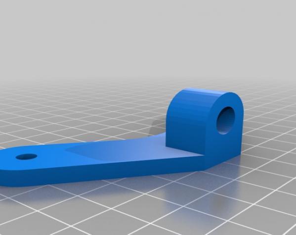 壁挂式显示器挂钩 3D模型  图5