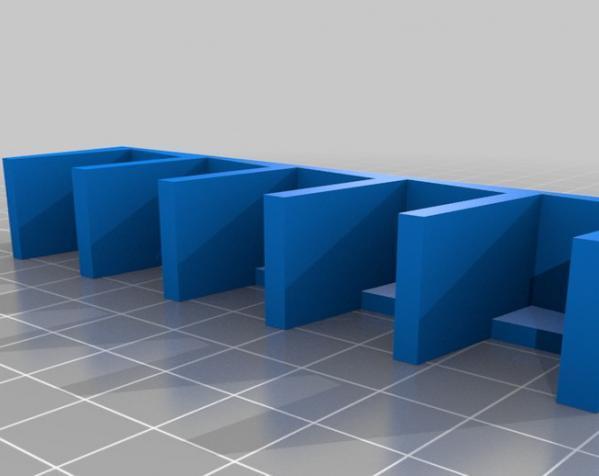 壁挂式DVD架 3D模型  图1