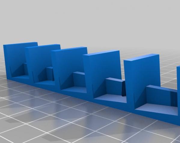 壁挂式DVD架 3D模型  图3