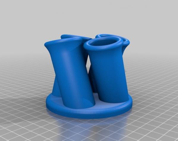 管型笔筒 3D模型  图2
