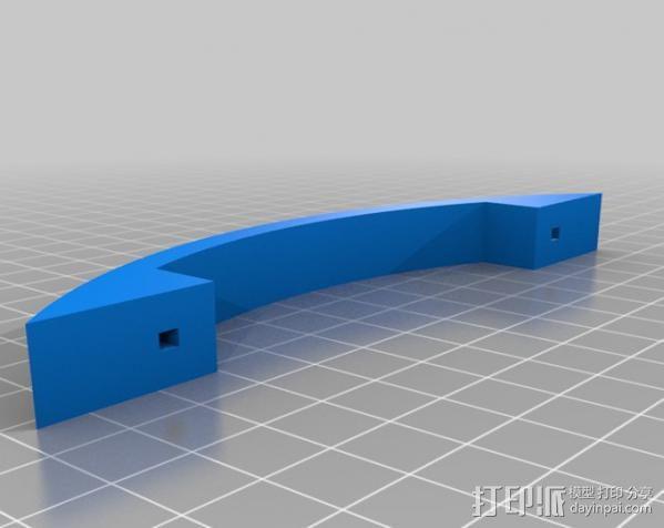 简易门把手 3D模型  图3