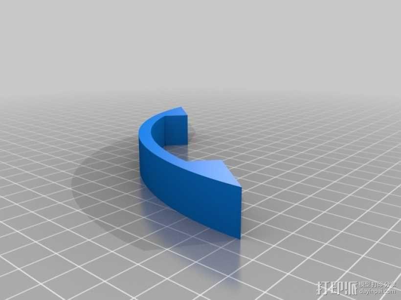 简易门把手 3D模型  图5