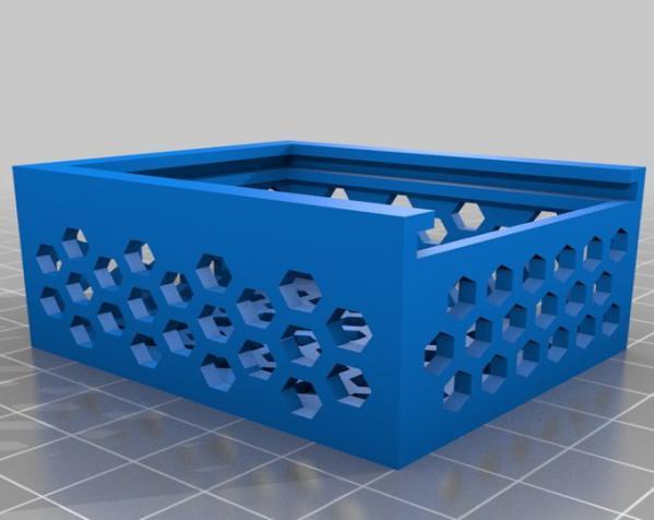 六边形镂空小盒 3D模型  图2