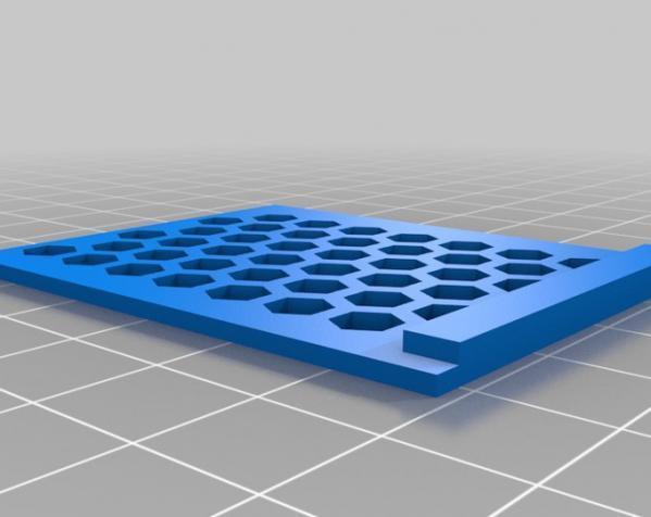 六边形镂空小盒 3D模型  图3