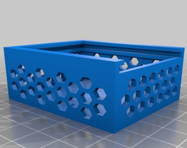 六边形镂空小盒 3D模型  图4