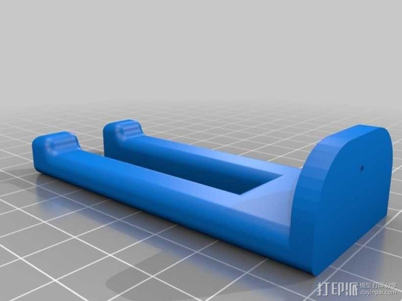 壁挂式酒杯架 3D模型  图1