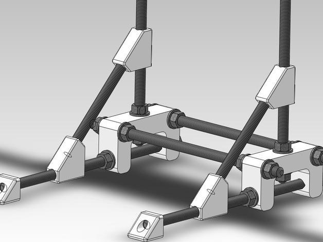 可调整显示器架 3D模型  图2