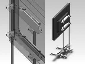 可调整显示器架 3D模型