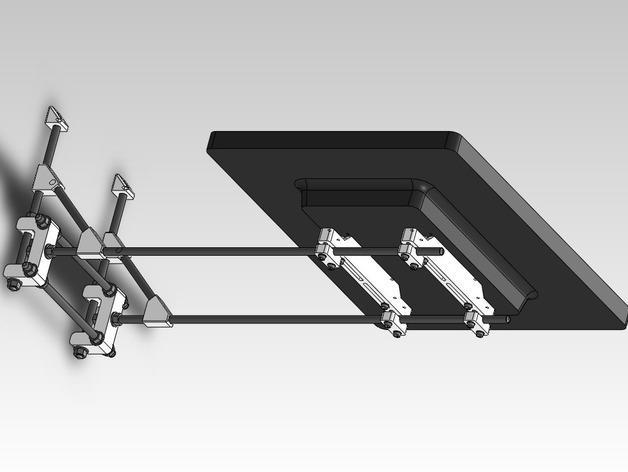 可调整显示器架 3D模型  图3
