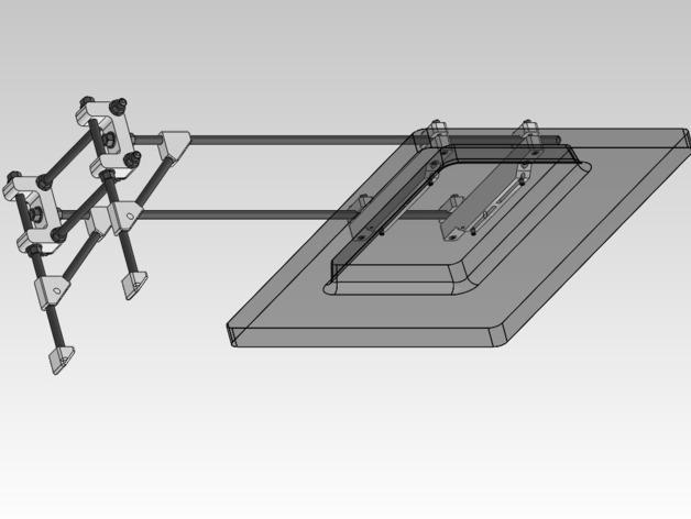可调整显示器架 3D模型  图4