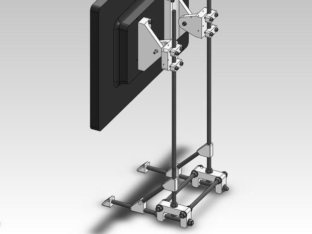 可调整显示器架 3D模型  图10