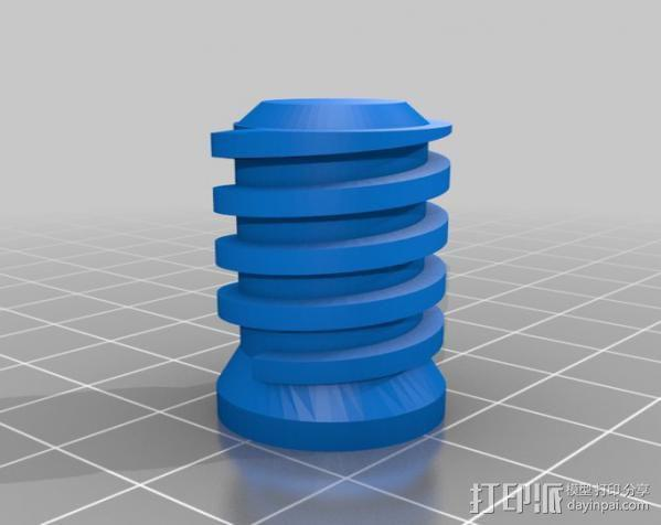 拖把/滚漆筒/扫帚/刮墨刀调节器 3D模型  图3