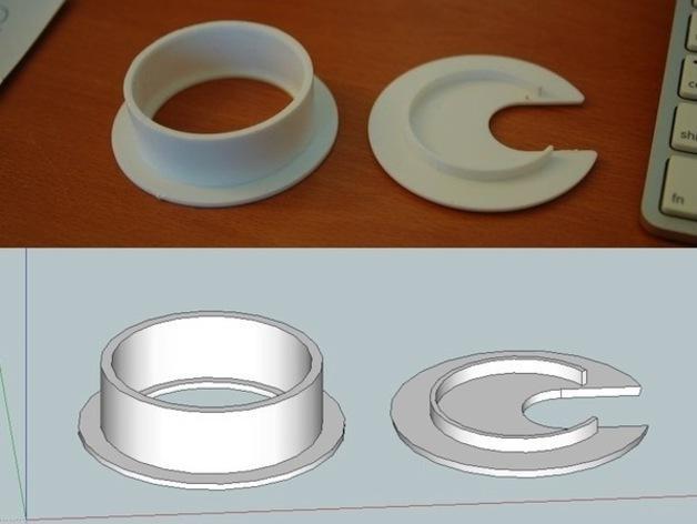 圆形接线口 3D模型  图2