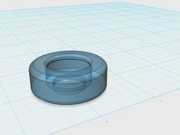 多功能训练器材支撑轮 3D模型  图1