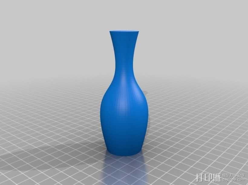 定制化贝塞尔曲线花瓶 3D模型  图1